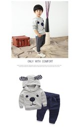 Children's clothes,The new spring of 2016,Private han edition,The cartoon bear suit,The baby cute fleece,The trousers,Wave a undertakes to