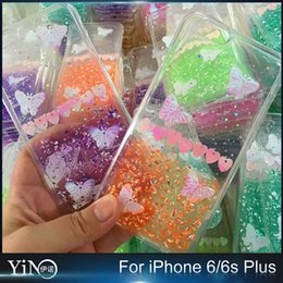 Wholesale Soft TPU Clear Case Air Cushion Drop Diamond Colourful Butterfly Glue Cover For iPhone s Plus