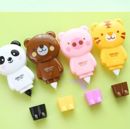 Wholesale Meter Cute Animals Correction Tape Correction Fluid School Office Supply Student Prize Escolar Papelaria