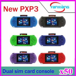 Wholesale 50pcs Hot Sale Handheld Game Console PXP3 B Color Screen Game Player ZY PXP3