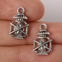 Wholesale x17mm Zinc Alloy Antique Silver Oil Lamp DIY Charms Pendants jewelry making DIY