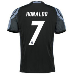 Wholesale Thai Quality Champions League RONALDO Jersey rd Away Black Madrid Black Purple Soccer Jerseys Football Tops Customized
