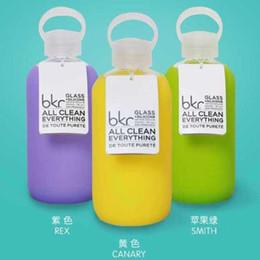 Promotion porter coloré Bouteille d'eau chaude de verre de Bkr Conception colorée couverture de silicone porte une bouteille d'eau DHL Free OTH299