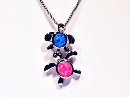 Wholesale & Retail Fashion Jewelry Fine Blue&Pink Fire Opal Stone Silver Plated Pendants For Women PJ16061908