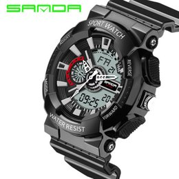 2017 New Brand SANDA Watches Mens LED Digital watch Watch Waterproof Sport Military Watches for Men Relojes Hombre