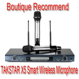 Cheap Promotions RF LCD Top Boutique TAKSTAR X5 UHF Wireless Microphone System Professional Karaoke Microphone household Mic offers 200