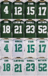 Wholesale 12 Aaron Rodgers Clay Matthews Jordy Nelson Clinton Dix Eddie Lacy Brett Favre Green White New Football Jerseys