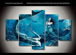 5 Panel HD Printed Mermaid wall art picture Painting wall art Canvas Print room decor print poster picture canvas Free shipping