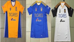 Wholesale NEW Tigres UANL soccer jersey thai quality Mexico club Tigres UANL yellow blue white jerseys GIGNAC soccer football jersey DHL