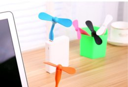 Wholesale usb Fan Style Mini Flexible USB Air Fan For Heat Summer Outdoor Home Charge Portable Power Bank Fan for PC Laptop Desktop