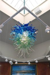 Wholesale Chihuly Style Colored CE UL Certificate Energy saving Hand Blown Murano Glass Crystal Decorative LED Chandelier Antique Hanging Lamp