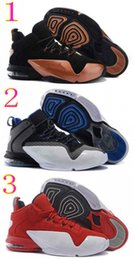 Wholesale 2016 Basketball Shoes Penny VI Penny Hardaway Copper Mens Basketball Shoes Discount Mens Sport Shoes Online Sneakers Size