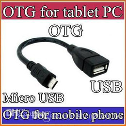 Wholesale DHL Micro USB Male to USB Female Host OTG Adapter Cable A13 A23 C PS