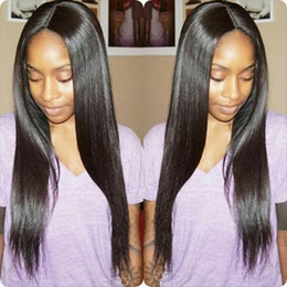 4x4 Glueless Silk Top Full Lace Wigs Brazilian Human Hair Full Lace Human Hair Wigs Silky Straight For Black Women