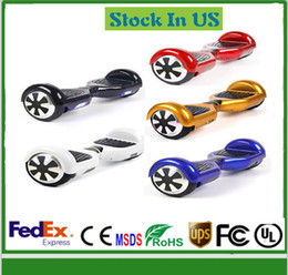 Wholesale Stock In USA LED Scooter Smart Inch Electric Scooter Hoverboard Without Bluetooth Two Wheels Balancing Scooter