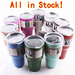 Wholesale Yeti Cup Bilayer Stainless Steel Insulation Yeti Cups oz oz oz Insulation YETI Rambler Tumbler Cups Cooler Cars Beer Mug Factory