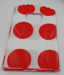 Free Shipping New 500pcs Shopping red dot Plastic Packing Gift Bag 15x9cm HOT