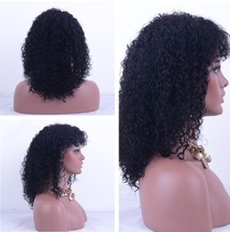 Wholesale Cheapest Afro Curly Wigs - Cheap Deep wave Lace Front Wig Human Hair With Baby Hair For African American Black Women natural Color human hair lace wig