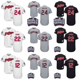 Wholesale 2016 World Series Patch Jersey Men s Cleveland Indians Andrew Miller Jason Kipnis Francisco Lindor Corey Kluber Baseball Jerseys