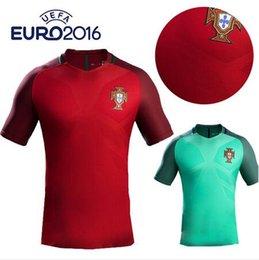 Wholesale New Portugals jersey soccer Home Red Away Green Ronaldo NANI J MOUTINHO H POSTIGA R MEIRELES Portugals football shirt