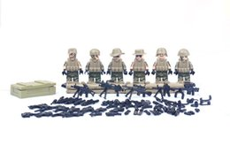 Wholesale 6pcslot World War II Raw Target CF defense special troops special forces legoes Hobbies Models Building Toy Kits Blocks