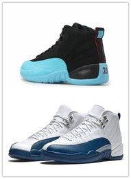 2016 Cheap retro 12 Men basketball shoes French Blue Gamma Blue Grey Sports Shoes Retro 12s XII Sneakers Athletics Boots