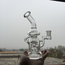 Wholesale inches glass bong High quality complex perc recycler glass pipe mm Female joint