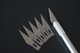 2017 sistemas de la pluma de madera 1 set / Metal Handle Scalpel, cuchillo de hoja Cuchillos de madera de la pluma del arte del cortador de papel, grabando DIY Herramientas de mano Drop Shipping sistemas de la pluma de madera promoción
