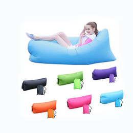 Wholesale 2016 Photos Fast Inflatable Camping Sofa banana Sleeping Lazy Chair Bag Nylon Hangout Air Beach Bed chair Couch