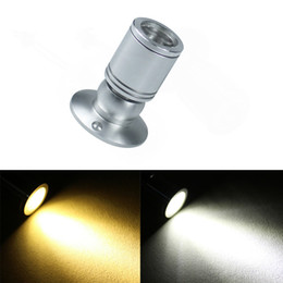 Wholesale adjustable pitch w LED Mini Surface Mounted Light led downlight Jewelry Cabinet Lamp spot light v cabinet led light Silver black