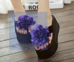 New Korean female summer rose thick bottom muffin heels beach sweet beauty a Flip Flops Sandals shoes