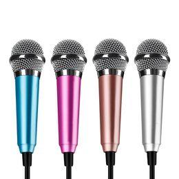 Fashion Phone Mini Microphone Computer Microfone Wired Sound Recording Condenser Karaoke Mic Mikrofon YY Vioce Microfono HS702