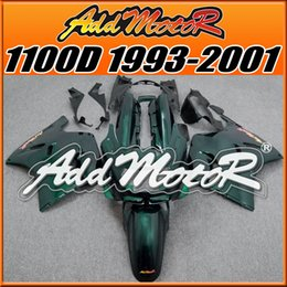 Wholesale Best Choice Brand New Fairings Addmotor NewDesign Compression Mold ABS For Kawasaki ZX11 ZZR1100D Deep Green K1328 Free Gifts