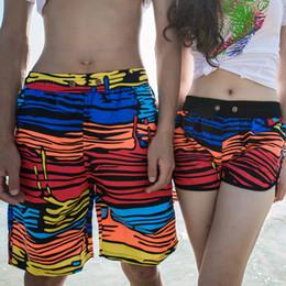 2017 natation costume sec 2016 couple de polyester à rayures shorts de gros-chauds rapides amateurs pantalons de plage d'été sec maillots de bain femmes / hommes nager costume sexy sport Z153 natation costume sec offres