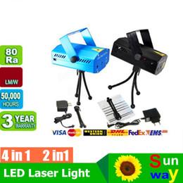 Des vacances mini-lumières à vendre-Vente Mini Stage Laser Effets lumineux Led Holiday 150mW Mini GreenRed Laser DJ Party LED étape de laser d'éclairage Disco Dance lampadaires