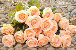Wholesale 2016 New Styles Artificial Rose Silk Craft Flowers Real Touch Flowers For Wedding Christmas Room Decoration Color Cheap Sale