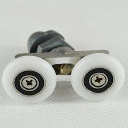 Wholesale Bathroom Accessories mm Diameter Double Wheeled Replacement Shower Door Roller Runner Wheel