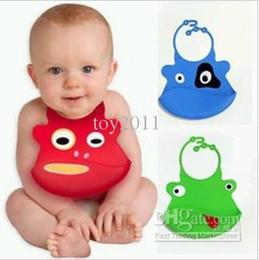 2017 Blue Real Baby Bibs Bavoir Babadores Baberos Bandana 10pcs Lots Baby Cartoon Washable Silicone Bib , Bibs for Babies Cute Animals Face