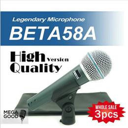 Wholesale microfono High Quality Version Beta a Vocal Karaoke Handheld Dynamic Wired Microphone BETA58 Microfone Beta A Mic free mikrafon
