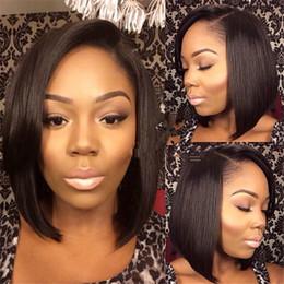 130 Density Hot short bob cut wigs with baby hair glueless brazilian short full lace human hair wigs bob for black women