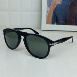 Wholesale Persol sunglass oversized sunglasses pilot shape glass lens retro men designer sunglasses big frame large size mm full frame