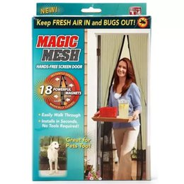 Wholesale Magnetic Screen Door Mesh Mosquito Curtain Keeps Bugs Mosquitoes Out Instant Screen Door Lets Cool Breeze in