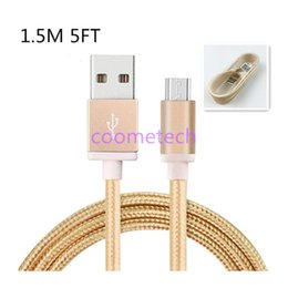 Wholesale Unbroken Metal M FT Braided USB Charging Cable For I6 sumsang Data Micro USB Cable Charging Cord