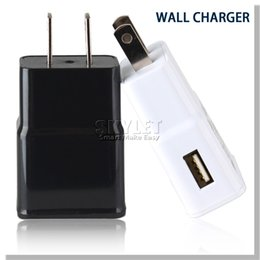 Wholesale For Galaxy S6 Wall Charger Travel Adapter V A Home Plug For Samsung Galaxy S5 NOTE LG HTC Huawei True Full A Without LOGO US EU Plug