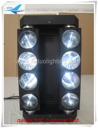 (4lot CASE) dmx control rgbw led beam moving 8x10 watt spider moving head light with flight case