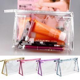 Wholesale Big Discount Fashion Waterproof PVC Makeup Cosmetics Bag Clear Transparent Travel Storage Box Girls Women Make up Pouch Vanity Case Bag