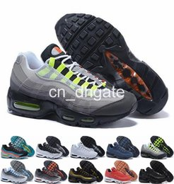 Wholesale Men Running Shoes Max95 Men Retro Cushion Navy Maxes OG Sport Air High Quality Chaussure s Walking Boots Sneakers Size