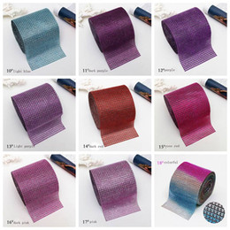 Wholesale Mixed Styles Fashion Sew On mm rows Rhinestone Hollow Mesh Trim Drill yards Roll Top Quality Plastic Base For Garment