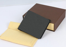 Wholesale Fashion designer clutch Genuine leather wallet with logo box dust bag