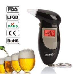 Wholesale Factory Outlets mouthpiece Digital LCD Backlit Display Key Chain Alcohol Tester Alcohol Breath Analyzer Digital Breathalyzer